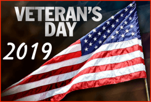2019 VETERANS DAY PICTURE OF US FLAG