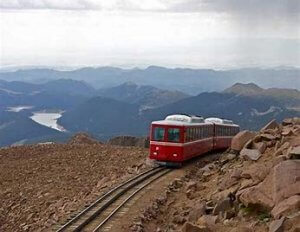 TRAIN ON RAILS IMAGE