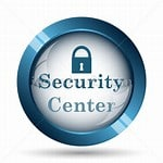 IMAGE OF LOCK AND WORDS SECURITY CENTER